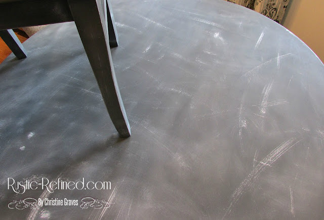 diy chalk painting a table