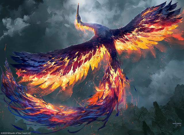 Burung phoenix adalah burung api mitos dari Mesir Kuno yang digambarkan sebagai burung yang mati dalam api dan dilahirkan kembali dari-Nya. Biasanya digambarkan memiliki bulu emas dan merah.  Di akhir hidupnya, seekor burung phoenix dikatakan membangun sarang ranting kayu manis yang kemudian dinyalakan. Burung itu hancur dalam api tetapi burung phoenix muda yang baru lahir dari api yang sama.  Hal itu diyakini memiliki rentang hidup 500 - 1461 tahun (tergantung siapa yang Anda tanya). Air matanya dianggap bisa menyembuhkan luka.