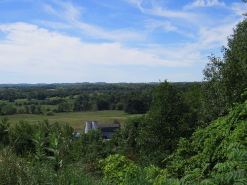 view from Fort Hill Ganondagan