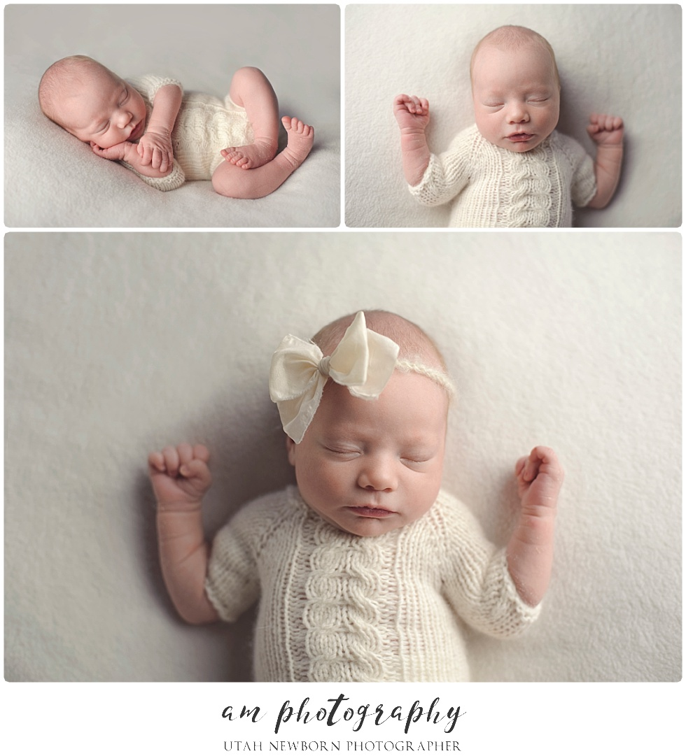 newborn portraits taken by AM Photography in Utah