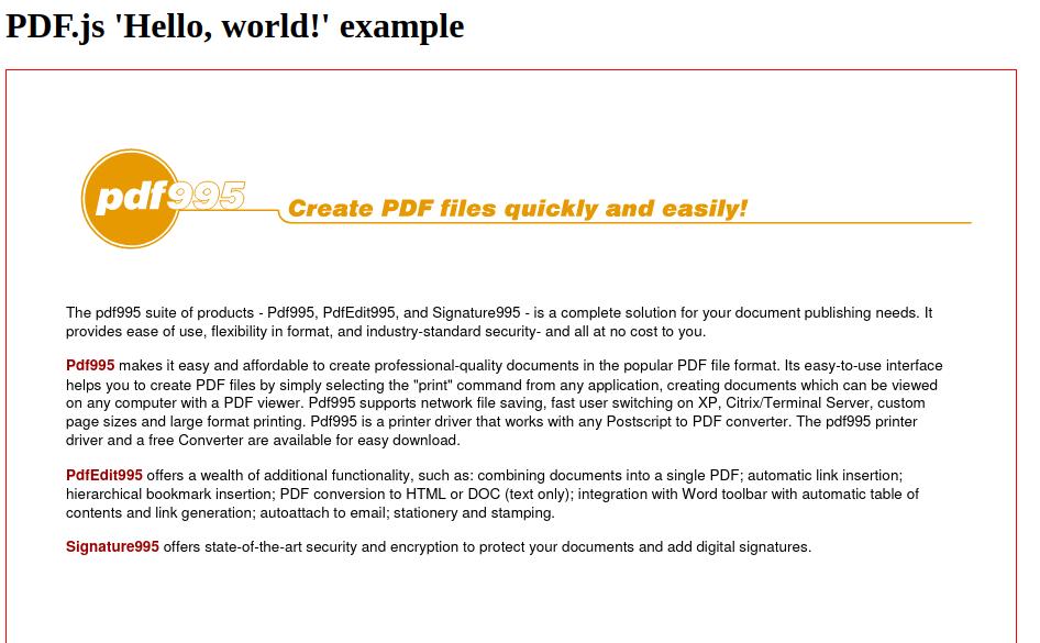 Code Samples: pdf