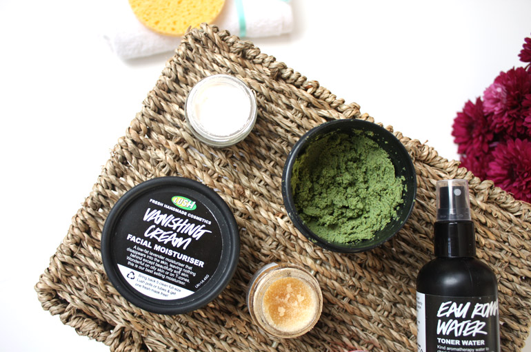 winter morning skincare routine lush