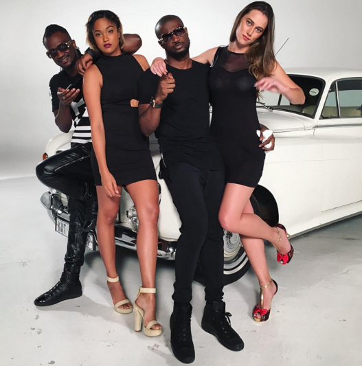 1 P-Square shares new photos from a set in South Africa