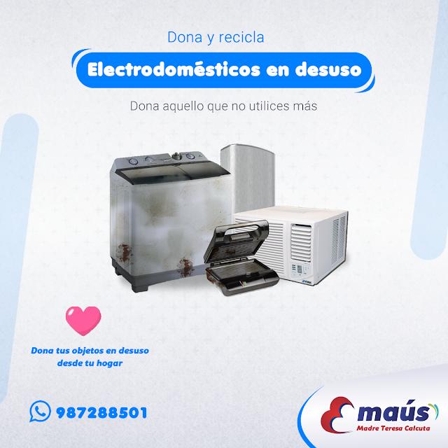 Dona y recicla electrodomésticos en Lima