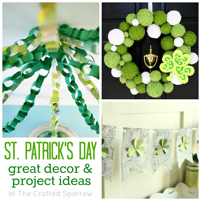 st patrick 39 s day great decor project ideas the crafted sparrow. Black Bedroom Furniture Sets. Home Design Ideas