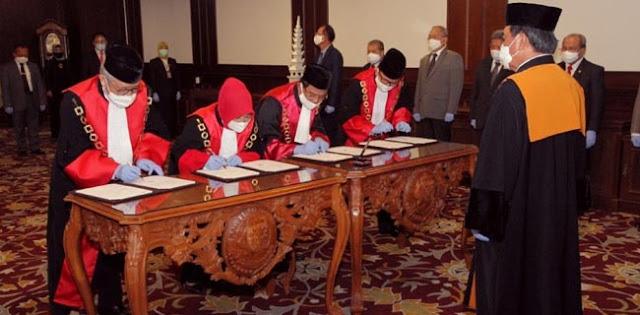 Ketua MA Lantik 4 Ketua Pengadilan Tinggi