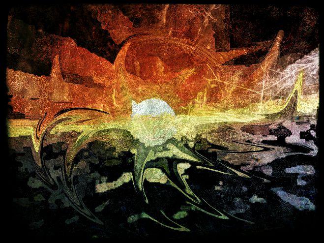 Poesia / Percezioni (Tramonto metafisico - Nuotando verso il sole che si tuffa in mare).