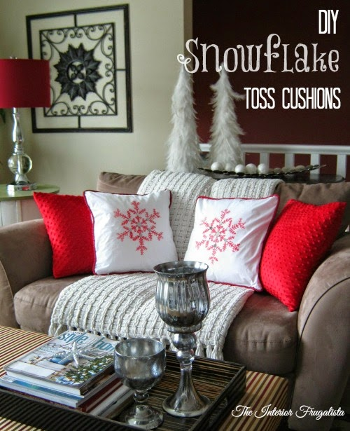 DIY Holiday toss cushions