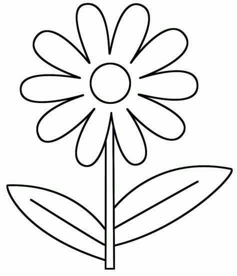 Tranh tô màu bông hoa cho bé ba tuổi