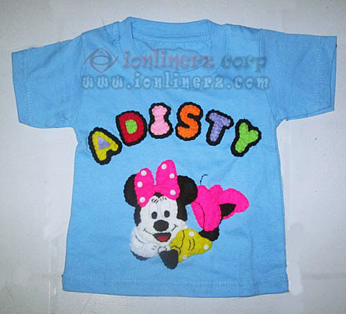 Kaos / Baju Flanel Anak Karakter Kartun Minnie Mouse