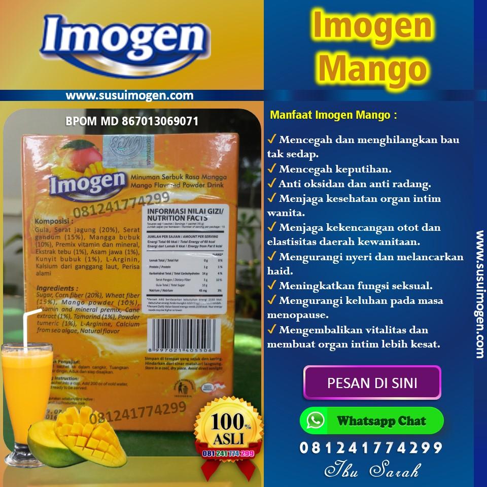 susu imogen mango; susu imogen mangga