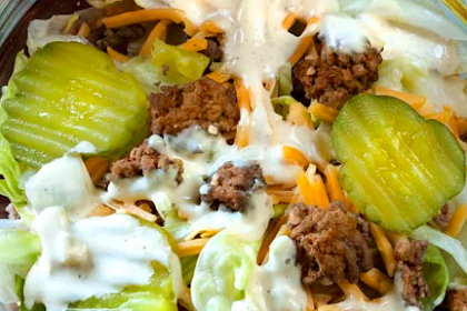 Keto Big Mac Salad | Low Carb Hamburger Salad