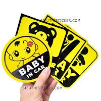 BỘ TEM XE BABY IN CAR MAMA IN CAR
