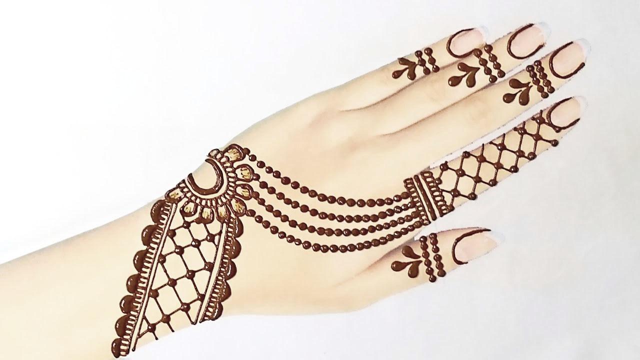 jewellery mehndi design back side image
