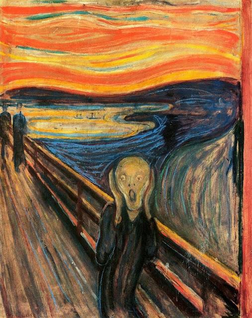 Pintura O Grito, do artista Edward Munch.