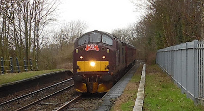 The Branch Line Society special train excursion at Brigg station in January 2016 - see Nigel Fisher's Brigg Blog