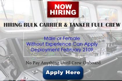 Able Seaman, Oiler, Ordinary Seaman, Wiper, Cook, Electrician, 4/E, C/E For Bulk Carrier and LPG Tanker Ship