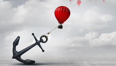 Opór w psychoterapii - kotwica trzymająca balon