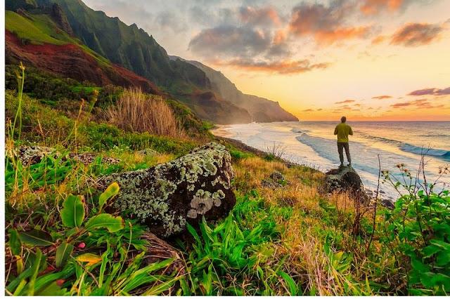 a beautiful afternoon at Hawaii Beach