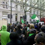 Image result for Nigerians visit Nigeria High Commission UK; curious to know PMB's Situation  photos