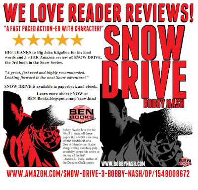 ALL PULP: SNOW DRIVE BRINGS HOME ANOTHER 5 STAR READER REVIEW!
