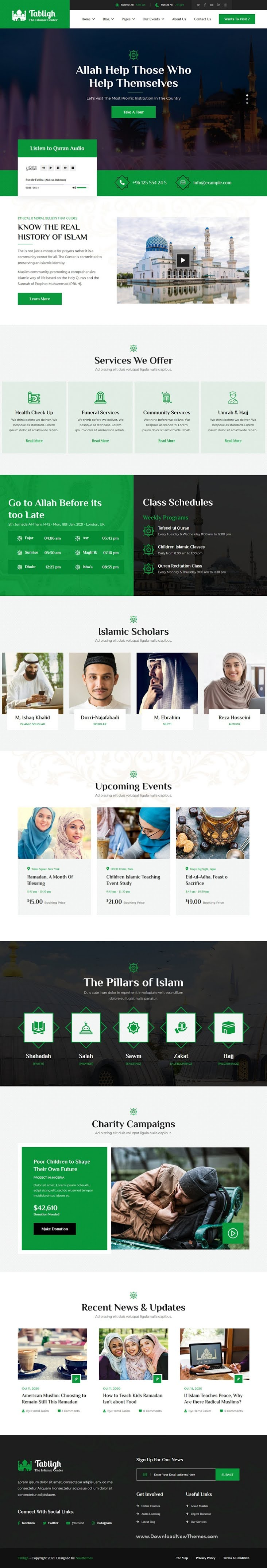 Islamic Institute and Mosque WordPress Theme