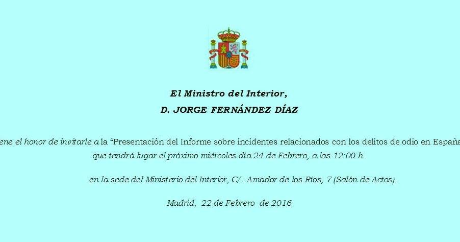 Islam espa a el ministro del interior invita al for Ministro del interior espana 2016