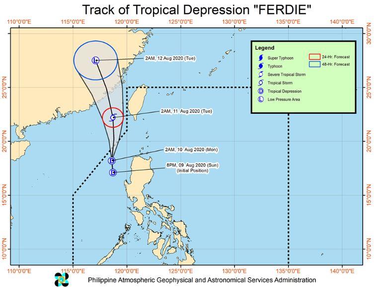 'Bagyong Ferdie' PAGASA weather update August 10, 2020