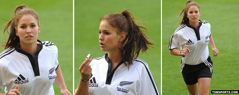 Most Beautiful Rugby Referee Brigitte Tyler