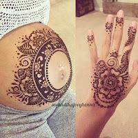 Pintura de Henna para embarazadas