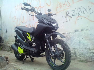 Modif Beat Fi Trail Simple Hitam Doff