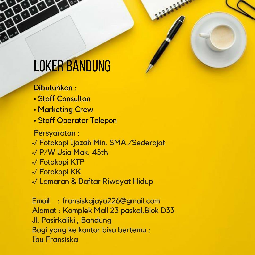 Lowongan Kerja PT. KPF Branch Bandung Juli 2020