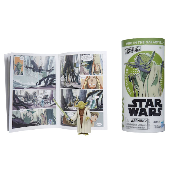 STAR WARS GALAXY OF ADVENTURES YODA Figure and Mini Comic