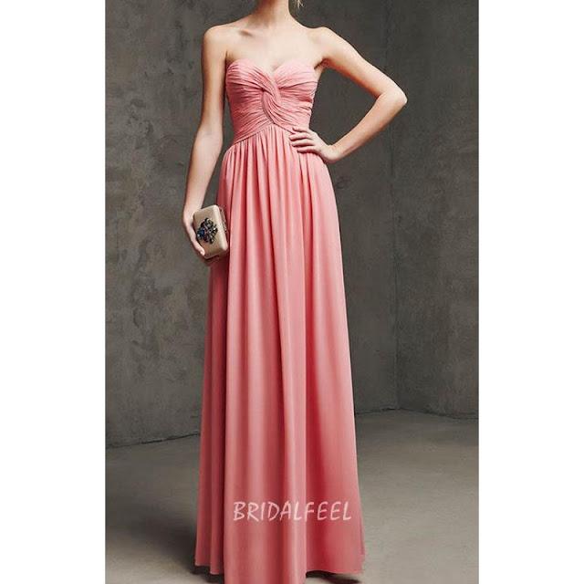 Long A-line Chiffon Bridesmaid Dress
