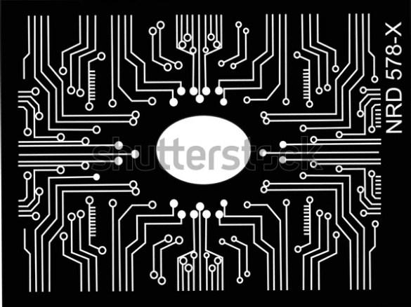 illustration design vector art electronic circuit