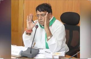 जनसंपर्क मंत्री पी सी शर्मा की प्रेस वार्ता: