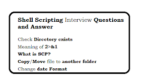 Shell Scripting Interview Questions and Answer
