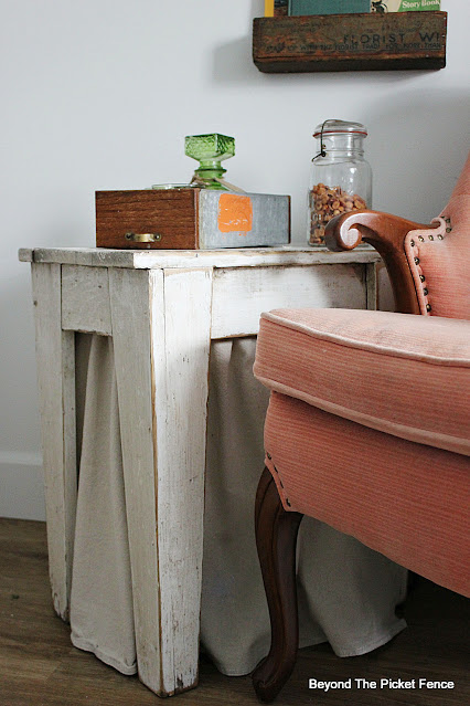 Add a Fabric Skirt to an End Table