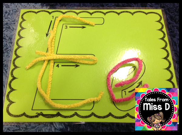 In this activity students use pipe cleaners to make letter and numbers. This activity helps students develop strength in their fingers through manipulating ...  sc 1 st  Tales From Miss D & Tales From Miss D: March 2016
