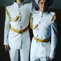 Пошив Кадетский костюм парадный белый для кадетов Россия тк габардин китель воротник стойка, рукав без кантом,брюки белый