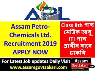 Assam Petro-Chemicals Ltd Recruitment 2019