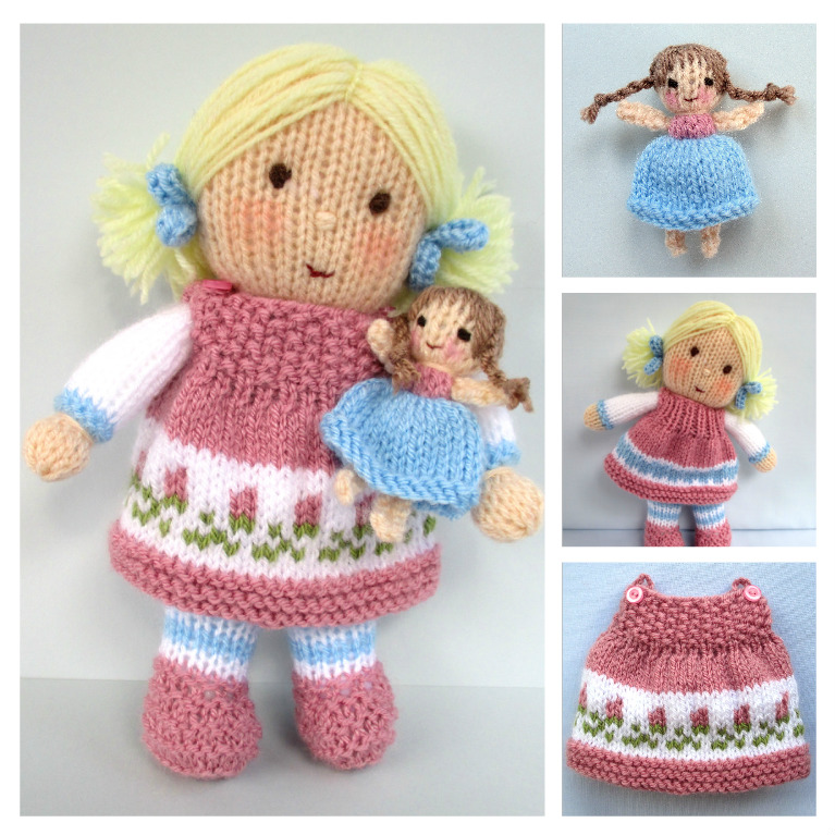 Flutterby Patch Classy Knitted Doll Patterns