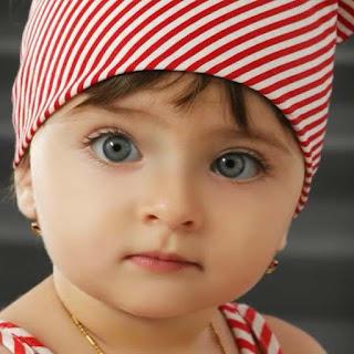 صورة بنت بعيون زرقاء واسعة عربية اطفال عرب - صور عربية
