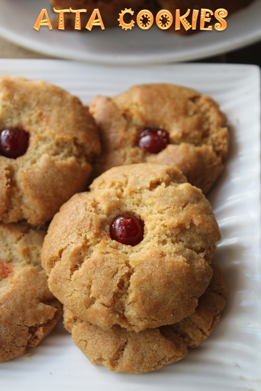 How to make eggless atta biscuits at home