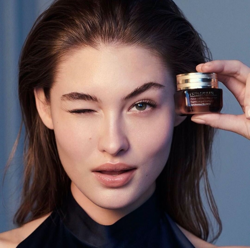 Grace Elizabeth Stuns in Estee Lauder 'Advanced Night Repair' Campaign