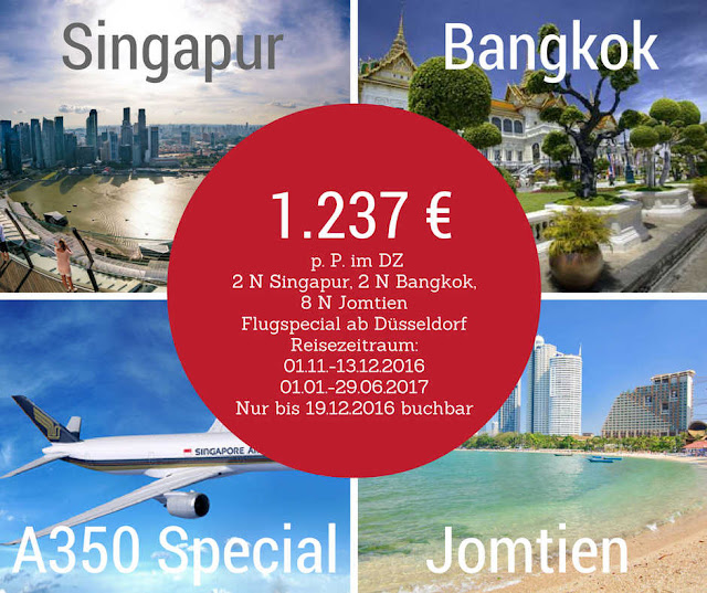 Singapur, Bangkok, Jomtien, A350 Special, Singapore Airlines