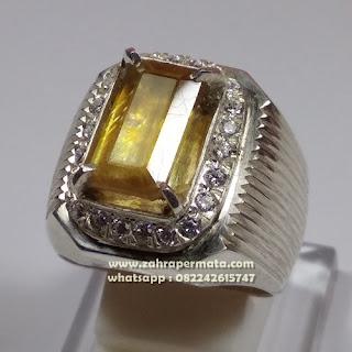 Cincin Batu Permata Yellow Saphire ZP 1098