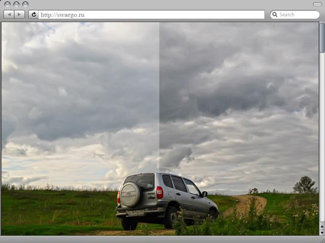Усиление текстуры неба на пейзажных фотографиях
