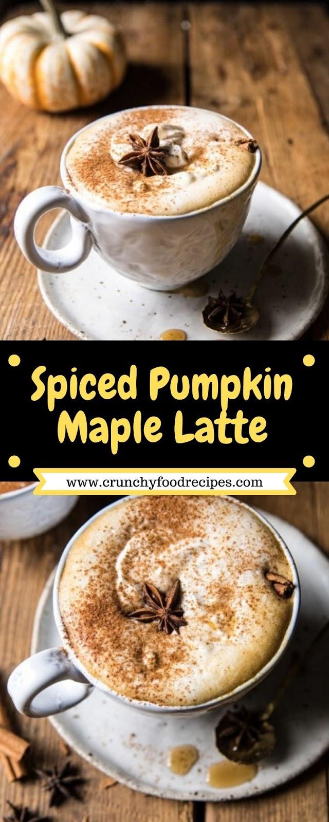 Spiced Pumpkin Maple Latte