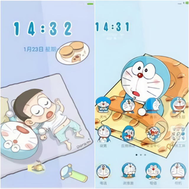 Tema Doraemon Xiaomi Terbaru MTZ Tembus Aplikasi Lucu - Tidur